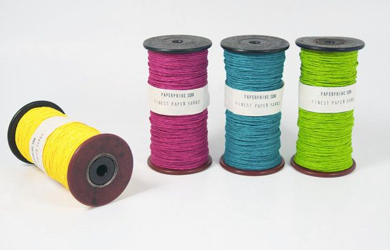Paper Twine on a Old Wooden Bobbin - Paper Cord - DIY - Old Spool - Springtime