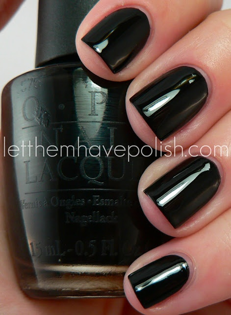 OPI - Black Onyx / LetThemHavePolish. Will forever be my FAVORITE go-to toe nail choice