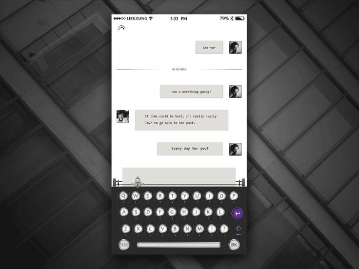 Keyboard typewriter and dialog chat rs