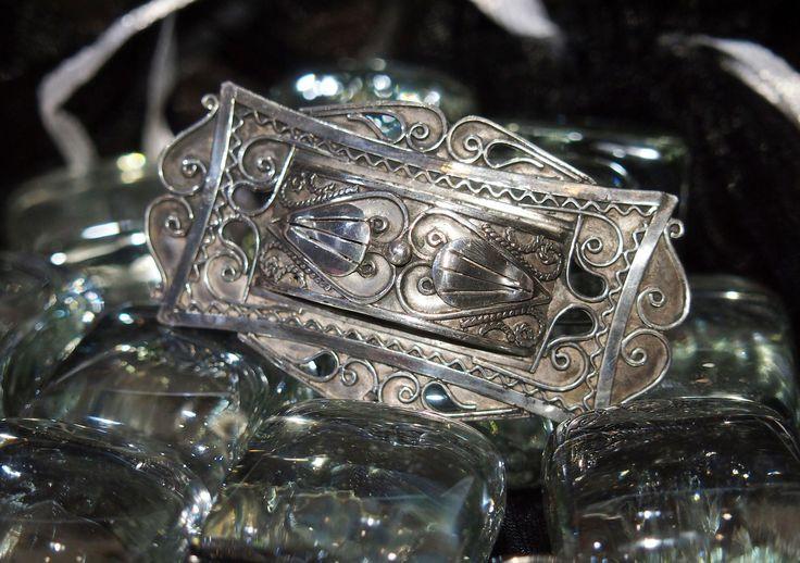 Старинная серебряная брошь Франция - Конец XIX - начало ХХ вв.