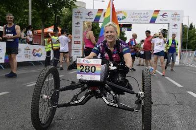 Encuentran la bicicleta robada a la atleta paralímpica Gema Hassen-Bey durante el Orgullo. La bicicleta fue robada durante la celebración de las fiestas del Orgullo en Madrid. La atleta había participado en la Carrera de la Diversidad con este vehículo, que tiene un valor de 15.000 euros. Este martes la Policía le ha devuelto la bicicleta. EFE   Público, 2017-07-04 http://www.publico.es/sociedad/encuentran-bicicleta-robada-atleta-paralimpica-gema-hassen-bey-orgullo.html