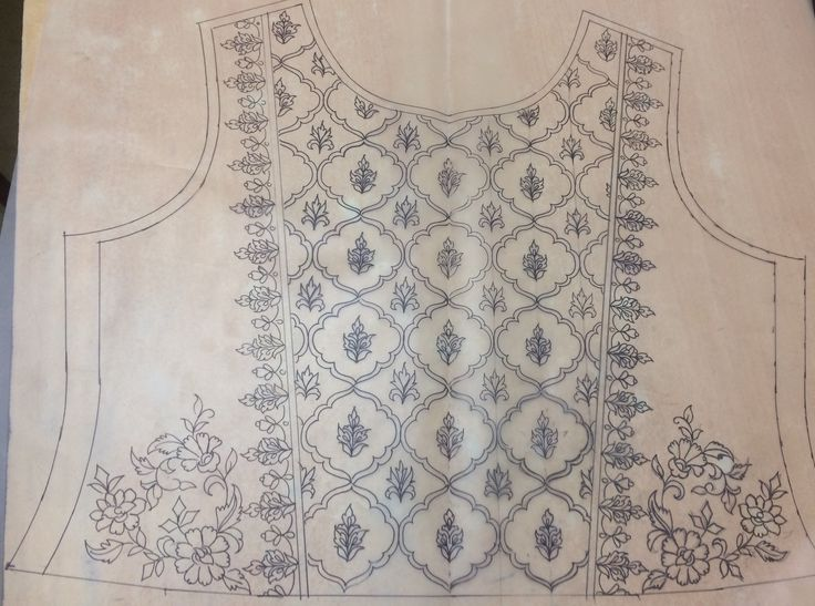 Embroider pattern before cutting and sewing