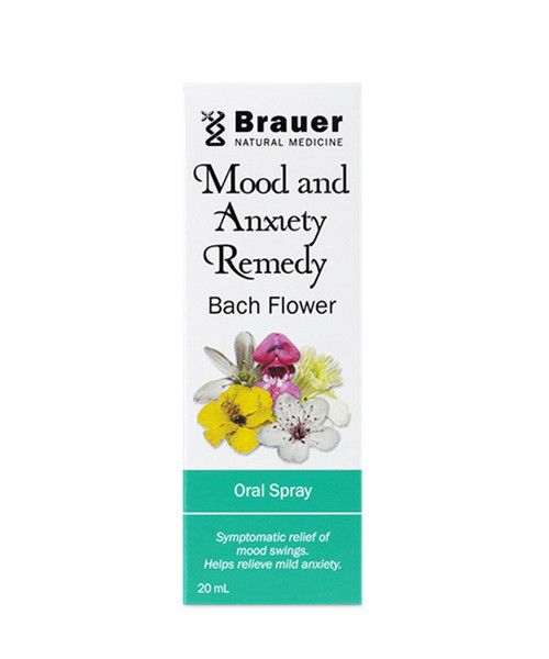 Mood & Anxiety Remedy Bach Flower Oral Spray 20mL- Mood and Anxiety Remedy Bach Flower Oral Spray includes Cherry Plum, Rock Rose and Star of Bethlehem flower essences traditionally used for the symptomatic relief of mood swings, and to help relieve nervous tension, stress and mild anxiety.