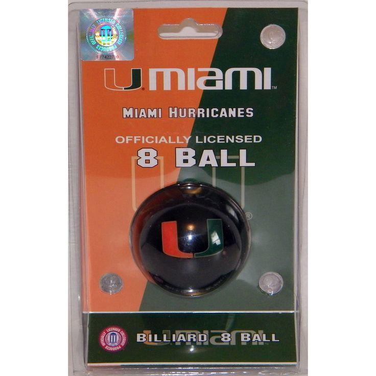 Miami Hurricanes Billiard Cue Ball