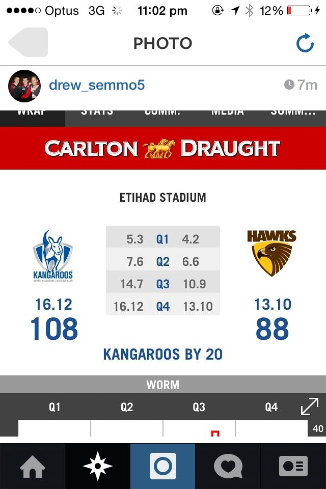 What. Win agianst 1st place on the ladder go roos