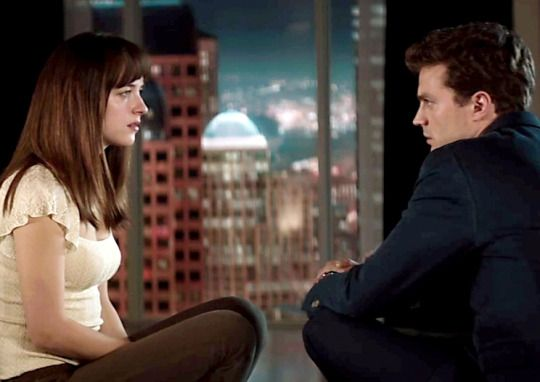 Christian Grey and Anastasia Steele Picture at Escala