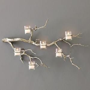 Tree branch wall lights