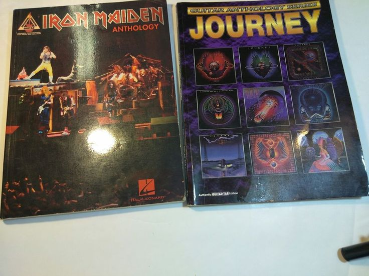 Iron Maiden Anthology Guitar Recorded Version Journey Anthology Series Tab Book