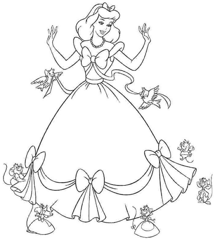 Free Princess Coloring Pages In 2020 Cinderella Coloring Pages Disney Princess Coloring Pages Princess Coloring Pages