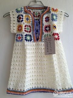Crochet patterns: Crochet Easy Granny Square Tunic - Sharing a Free Chart and Idea: Crochet Granny, Crochet Dresses, Dresses Design, Granny Squares, Baby Dresses, Crochet Tops, Crochet Patterns, Crochetdresses, Crochet Clothing