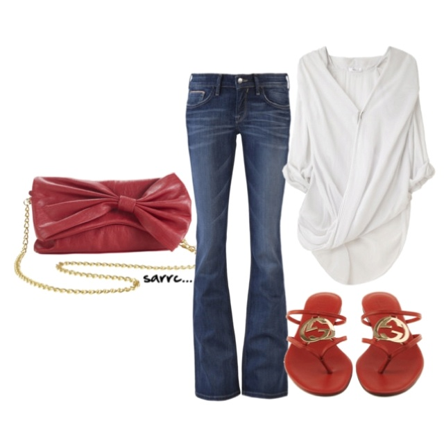 cute casual style....but don't like the bag