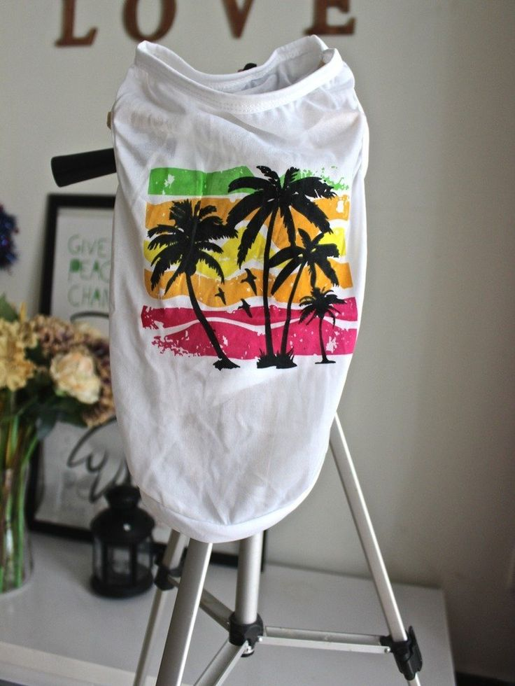 Ollypet Dog T-Shirt Tropical Beach Pet Vest Holiday Style S : Pet Supplies