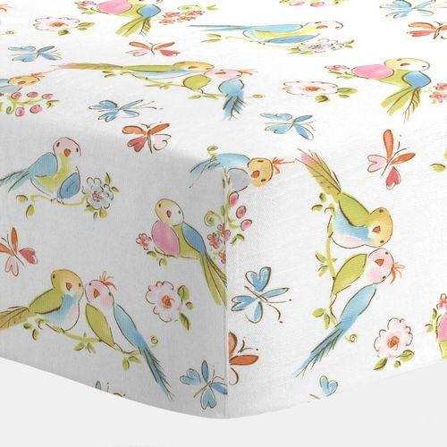 Love Birds Crib Sheet http://www.babybedding.com/love-birds-crib-sheet $29