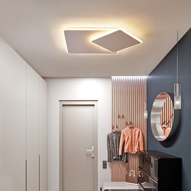 Ultra Thin Brown White Rotatable Modern Led Ceiling Lights For