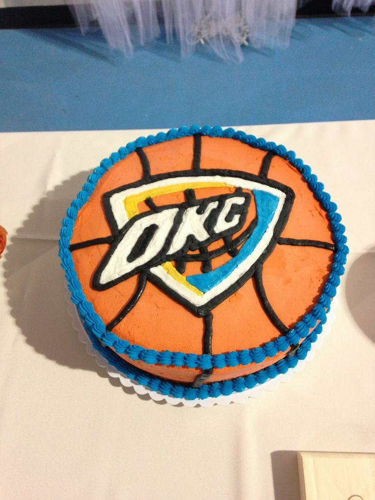 OKC Thunder Groom's Cake Basketball