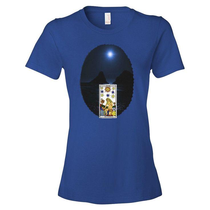 T-shirt donna serie the Tarot   XVII La Stella