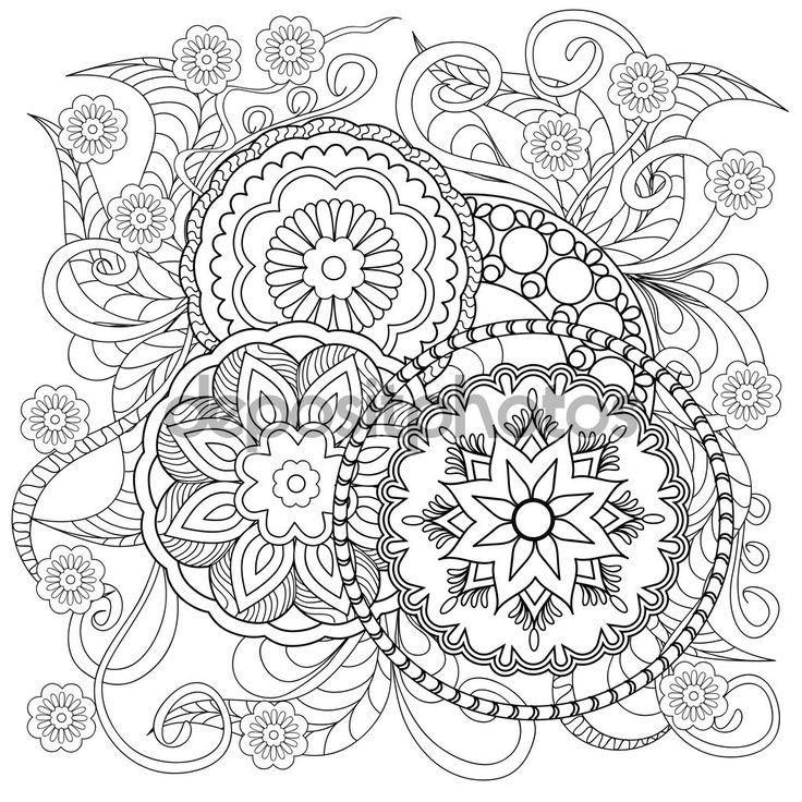 Mejores 10 imágenes de mandalas en Pinterest   Coloración adulta ...