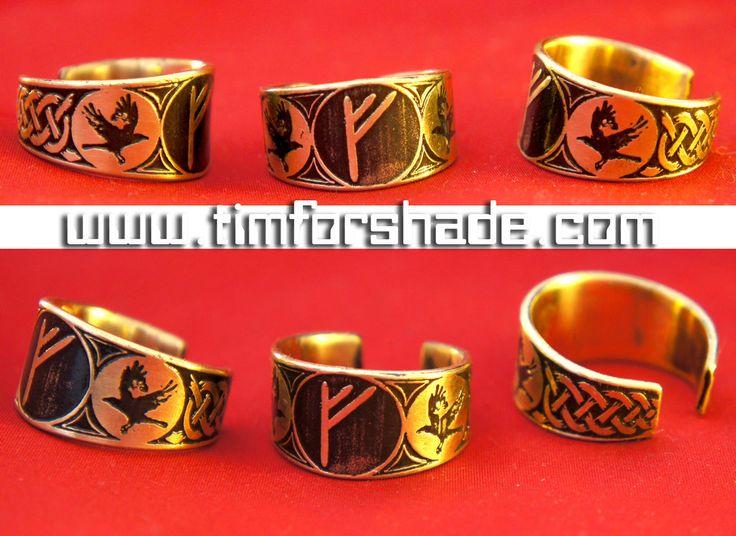 Rune Ring Huginn and Muninn viking ring by TimforShade on DeviantArt