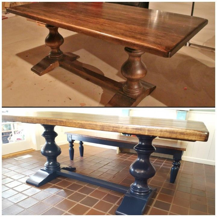 Craigslist Arhaus Pedestal Dining Table Paid 400 For 72 Table And Two Benches Beautifully Restored By Tabella Furniture In Brecksville Oh Quarry Ti Muebles