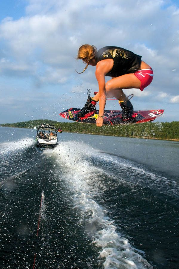 I can't wait for the amazing days that we get to spend out on the boat and in the water pushing ourselves and trying new things! This year I want to be able to jump the entire wake and work on grabs :)