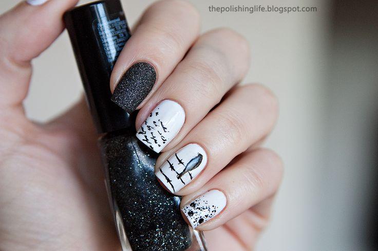 31 День Challenge - День 7 - Черно-Белые Ногти