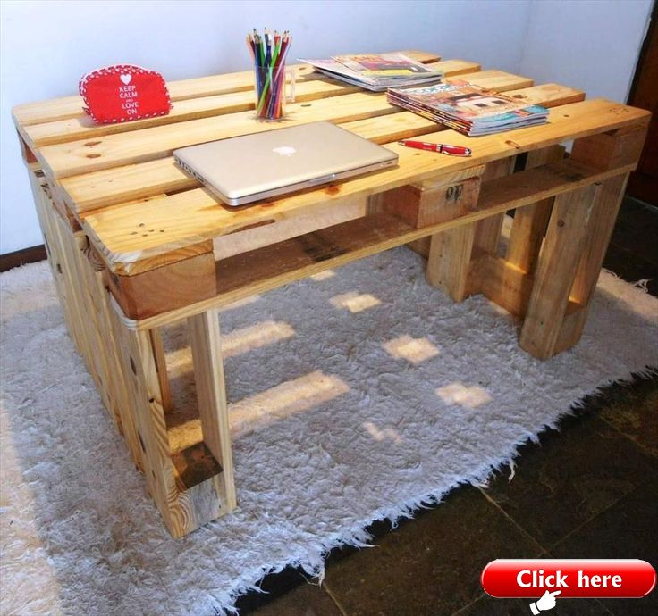 Sturdy Wooden Pallet Desk 30 Easy Diy Pallet Ideas For Your Next Projects 10 2019 Pallet Ideas Wooden Pallet Projects Pallet Furniture For Sale Pallet Projects Furniture