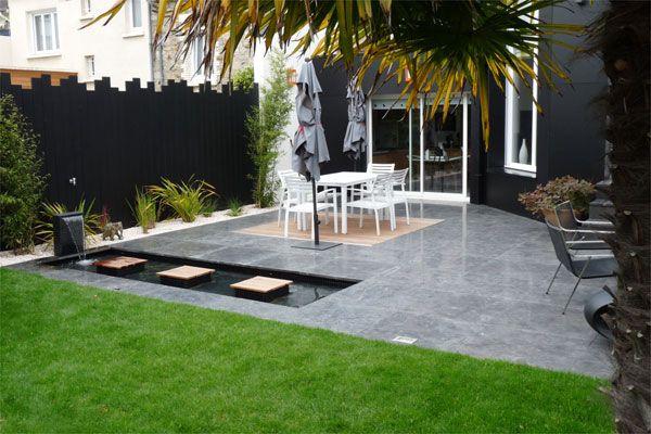 un jardin contemporain pur avec terrasses jardins de paysagistes jardins pinterest. Black Bedroom Furniture Sets. Home Design Ideas