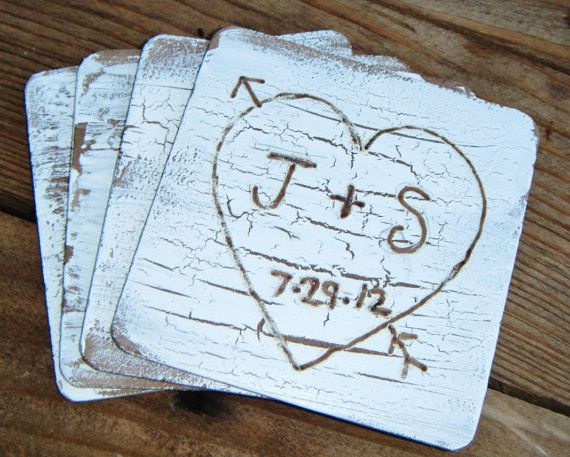 Customized Rustic Country Beach Wedding Coaster Favor By: MarrilyEverAfter*