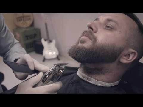 Стрижка бороды, профессиональный подход к оформлению бороды от TOPGUN Barbershop - YouTube