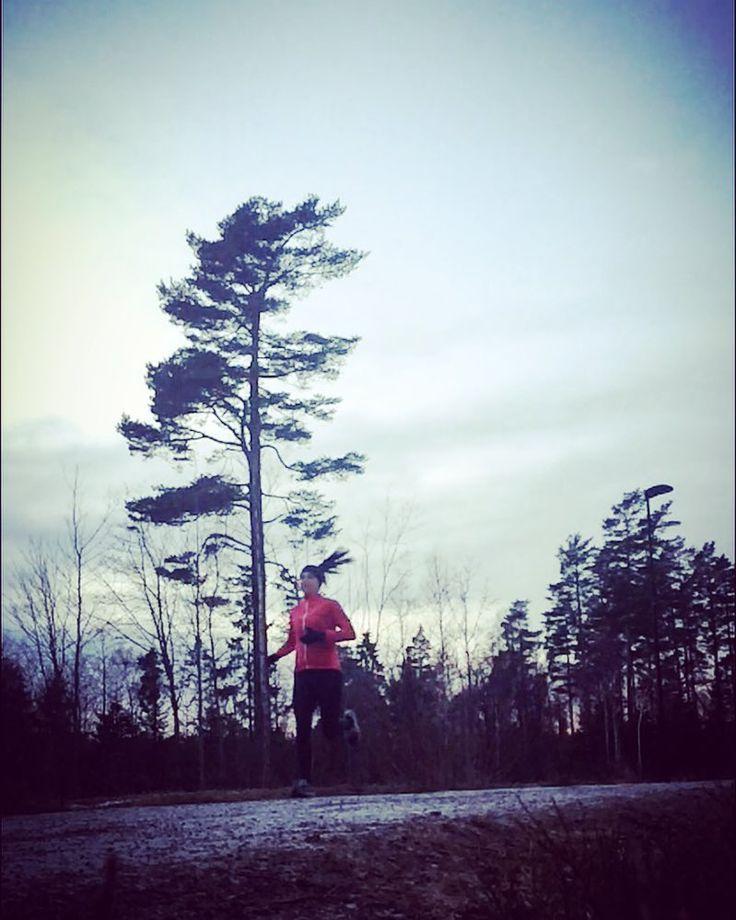 Ingenting slår det å starte helgen med en løpetur UTE....samme hvor sliten jeg er på slutten av uka..  Når jeg i tillegg både rekker ut og hjem igjen i tilnærmet dagslys OG halve turen kunne løpes i SKOGEN... Da blir det nesten halleluja stemning!  12 km i litt sånn luntefart... #smågleder #klarforvår #utno #liveterbestute #maratontrening #marathontraining #trailrun #runnersofnorway #runnersworldnor #minløpetur #mintreningsglede #freshpåtrening #runnerscommunity #worlderunners #gsportnorge…
