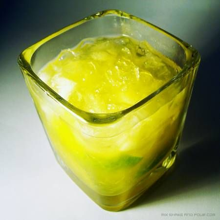 Passion Fruit Caipirinha Cocktail