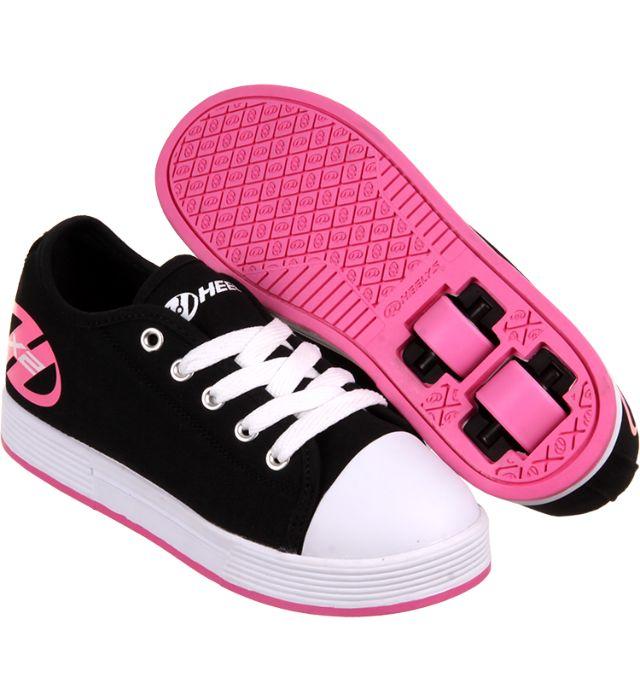 Heelys X2 Fresh - Black/Pink | Heelys - Entire Range | Heelys | Cheap Skate Shoes For Sale | Skatehut