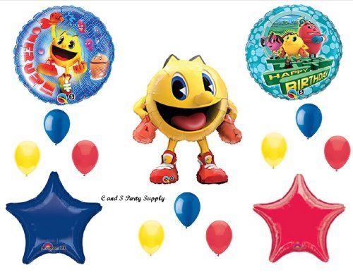 Pac-Man birthday party balloon set