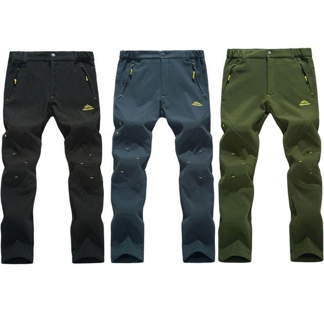 2018 New Men S Winter Trekking Pants Outdoor Waterproof Windproof Thermal Thick Trousers Hiking Camping Ski Pants 5xl Va00 Ski Pants Hiking Pants Camping Pants