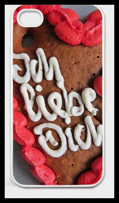 """iPhone-Hülle """"Ich liebe Dich"""" mit Lebkuchenherz-Motiv für iPhone 4/4S"""