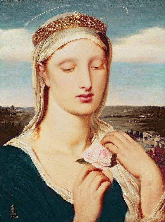 Мадонна. Соломон Симеон (Simeon Solomon) (1840-1905), английский художник