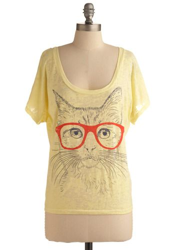 Oversized tee with a kitten <3: Hipster Cat, Cat Shirts, Fur Sight, Casual Shorts, Sight Tops, Crazy Cat, Cat Stuff, Red Glass, Cat Lady