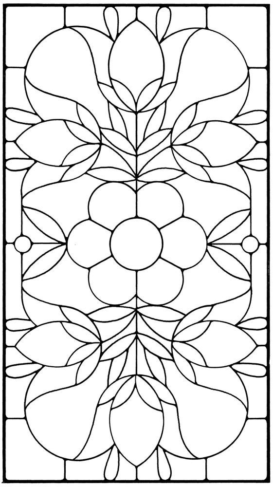 Floral Stained Glass Pattern Book