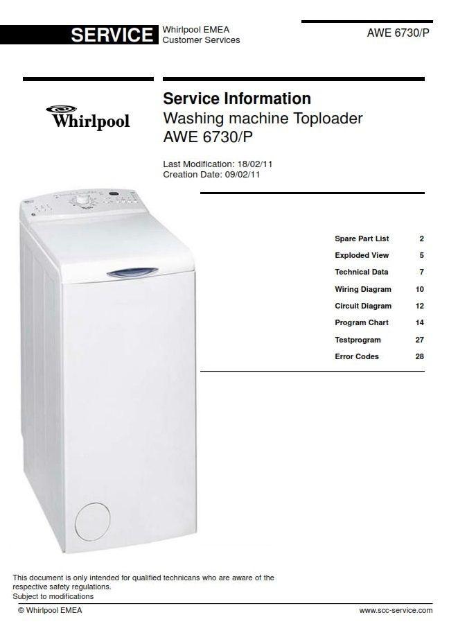 Whirlpool Awe 6730 P Washing Machine Service Info Manual Washing Machine Service Whirlpool Repair Guide