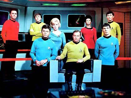 De SF-serie Star Trek met Spok met zijn puntige oren.