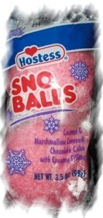 When I was a kid, grocery shopping with my Mom, IF I was good, shed buy us a package of Snowballs and share it on the way home!