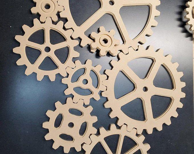 Wooden Kinetic Wall Decor Mechanical Wall Art Wooden Rotating Gears Wall Decor Sculpture Tissue Paper Storage Wall Decor Wall Racks