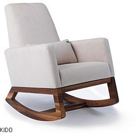 Chaise ber ante joya stone base walnut trucs de b b for Meuble chaise bercante