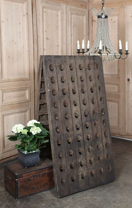 Vintage Champagne Riddling Rack. Just beautiful! #LaboutiqueVintage www.laboutiquevintage.co.uk
