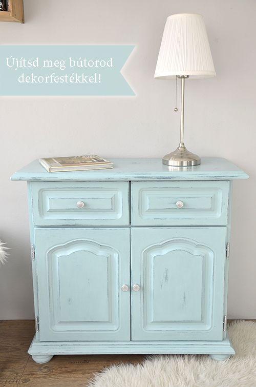 Pentart dekor: Bútorfelújítás csiszolás nélkül? Igen!