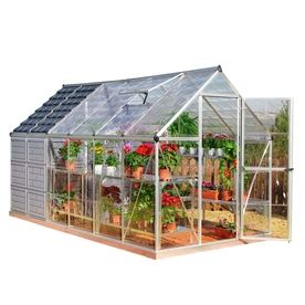 Backyard Greenhouse Ideas blue and bold Palram 12 Ft L X 6 Ft W X 683 Ft H Metal Polycarbonate Greenhouse 701 Backyard Greenhousegreenhouse Ideaspolycarbonate