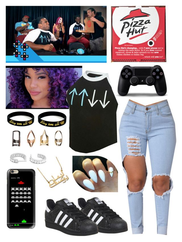 Brittany  UpUpDownDown with Dolph Ziggler, Big E langston, Kofi Kingston and Austin Creed ( Xavier Woods ) by queenofwrestling on Polyvore featuring adidas and Casetify