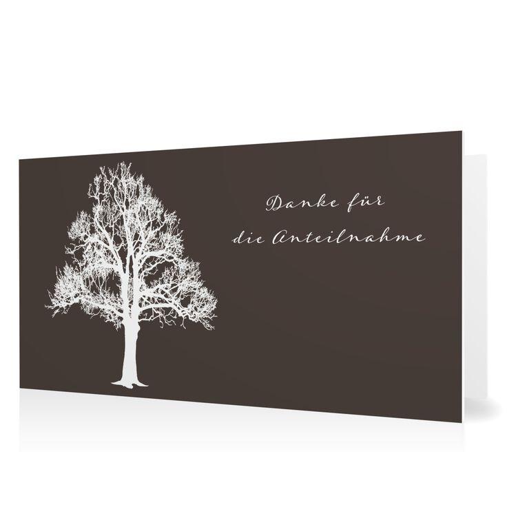 Dankeskarte Lebensbaum in Schamott - Klappkarte flach lang #Trauer #Danksagungskarten #elegant https://www.goldbek.de/trauer/danksagungskarten/dankeskarte-lebensbaum?color=schamott&design=af716&utm_campaign=autoproducts
