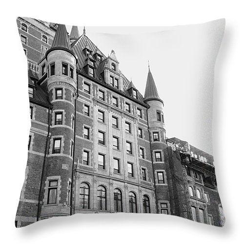 "Chateau Frontenac Throw Pillow 14"" x 14"""
