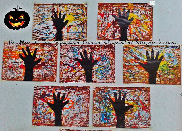 hand tree & marble painting